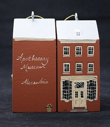 Apothecary Wood Ornament