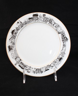 Alexandria Plate - Black & White