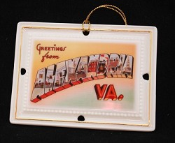 Greetings from Alexandria Ornament