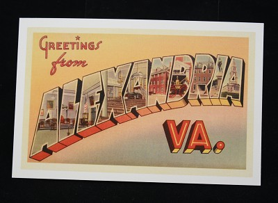 Greetings from Alexandria Postcard,VA-99