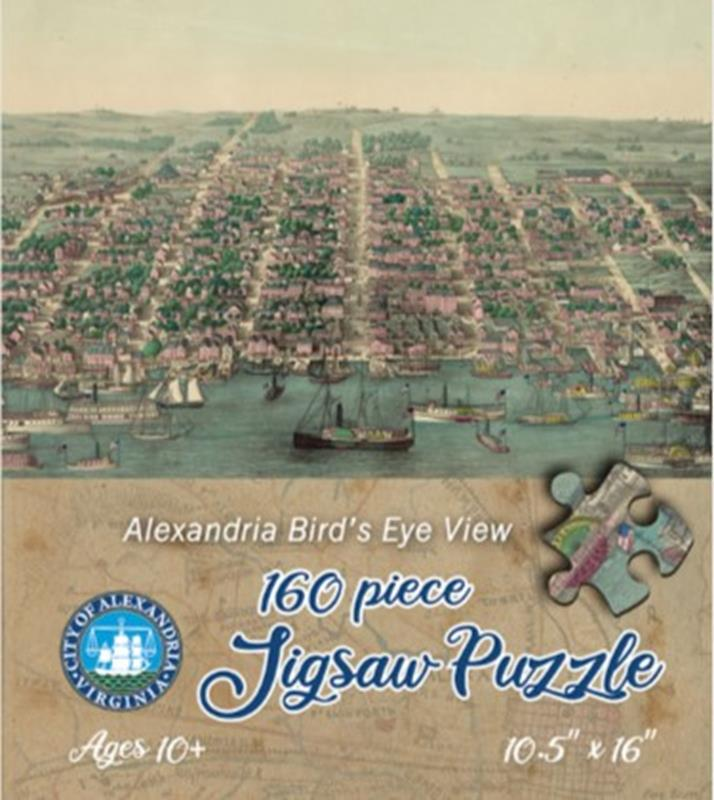 Alexandria 1863 Bird's Eye View Jigsaw Puzzle