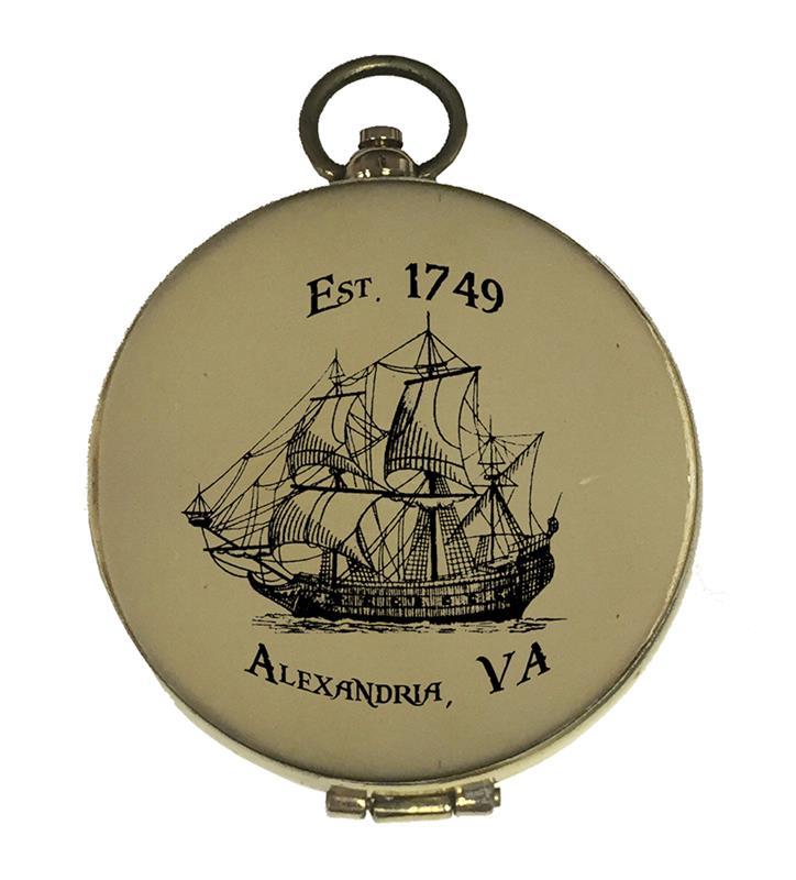 Alexandria Brass Compass,6498CSTM